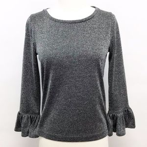 J. Crew Tops - NWT j. crew | sparkle bell-sleeve top